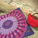 mandala square mat -pink-