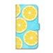 水の上のレモン 手帳型iPhoneケース