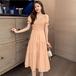 【dress】人気アイテム ! 優しい雰囲気清新人気デザイン3色デートワンピース
