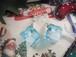 ホワイトクリスマスツリーを閉じ込めたアイスキューブ風ピアス
