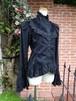 フリルブラウス ロココ調装飾レース姫袖 黒