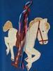 Vintage 回転木馬のリボン付きアップリケスウェット