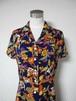 レトロ小紋のオープンカラーワンピース Open collar Shirt dress LO-171/L