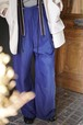 pelleq / front string big trousers (sky)
