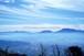 雲海に囲まれた阿蘇山の風景