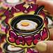 Satan Fried Egg/Patch/Designed by Artist Ken Hamaguchi