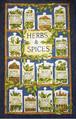 ハーブ柄 キッチンタオル ティータオル (Herb & Spice)