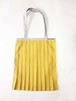 PLEATS TOTE BAG / YELLOW x Light Gray [size:F]