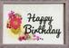 押し花メッセージアート【Happy Birthday】