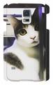 スマホケース Galaxy S5 振り向き猫
