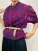 (TOYO) design cache-coeur double button blouse