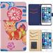 Jenny Desse らくらくスマートフォン3 F-06F ケース 手帳型 カバー スタンド機能 カードホルダー ピンク(ブルーバック)