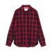 White Mountaineering / CHECK FLY FRONT OX SHIRT[RED]