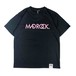 新色 マッドロックロゴ Tシャツ/ドライタイプ/ブラック&ピンク