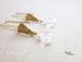 4月誕生石/水晶とバチカンドットピアス(イヤリング)