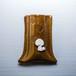ビションフリーゼがワンポイントの陶器のペンスタンド