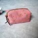 リネンキャラメルポーチ ピンク < concrete doodle >