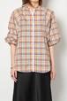 【40%OFF】BRISEMY Organdy check back slit shirts ブライズミー オーガンジーチェックバックスリットシャツ
