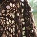 茶色い羊のポルトガル手編みショール(花)
