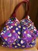 猫柄 ハロウィンパッチワーク風トートバッグ