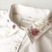 襟FLOWER Yシャツ (LADY'S L) ー 胸ワンポイントあり
