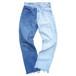 """""""BI-COLOR JEANS"""" 90's Levi's 501 ICE BLUE×BLUE size:W28"""