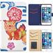 Jenny Desse Galaxy S6 Edge SC-04G ケース 手帳型 カバー スタンド機能 カードホルダー ホワイト(ブルーバック)