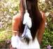 ボヘミアンホワイトフェザーアームバンド 【天使の羽根】 ブライダルアクセサリー ブレスレット 腕章  白
