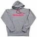 GRINDERS logo hoodie (Gray x Pink)