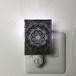伊勢型紙のナイトランプ 【メダリオン】BLACK