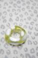 IKSコレクション新島ガラス帯飾り マーブルドーナツ ホワイト