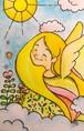 ポストカード 天使の笑顔