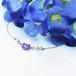 紫陽花とねこのブレスレット