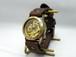 手作り時計 Hand Craft Watch 手巻きBrass Men's ローマ数字 GD/BR [BHW057ローマ]
