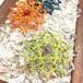 新色追加!天然石のマクラメ編みヘアピン/ダリア(シャトルーズ系×アメジスト)