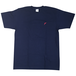 島刺繍 T Shirts (Navy×Red)