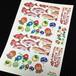 【シール】【葉書サイズ】赤いお魚と金魚