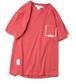 メンズ大きい男サイズ1983数字赤半袖Tシャツ