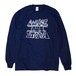CONB / LOW PRICE UTOPIA L/S T-SHIRTS NAVY