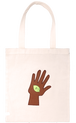 [DONGURI] HAND-STITCH APPRIQUE TOTE BAG-BR ドングリアップリケトートバッグ