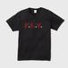F.L.Y. V-Neck T (黒×バーガンディー)