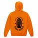 ルートゼロスカルパーカー/オレンジ