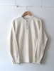 FUJITO Henley Neck Sweater White,Navy,Brown