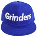 GRINDERS logo snap back CAP (royal blue x white)
