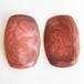 red marble enamel earring[e-748]