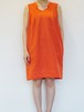 Silk Cotton Dress / ORANGE
