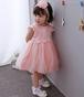 8443ドレス キッズ ベビー 女の子ドレス フォーマルドレス 赤ちゃん 出産祝い お宮参り 新生児 ワンピース ピンク 3M6M12M24M 80cm 90cm