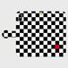 白黒チェック(赤)