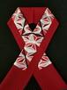 半襟 麻の葉刺繍 赤