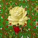 018 大きな薔薇の帯飾り(イエロー)